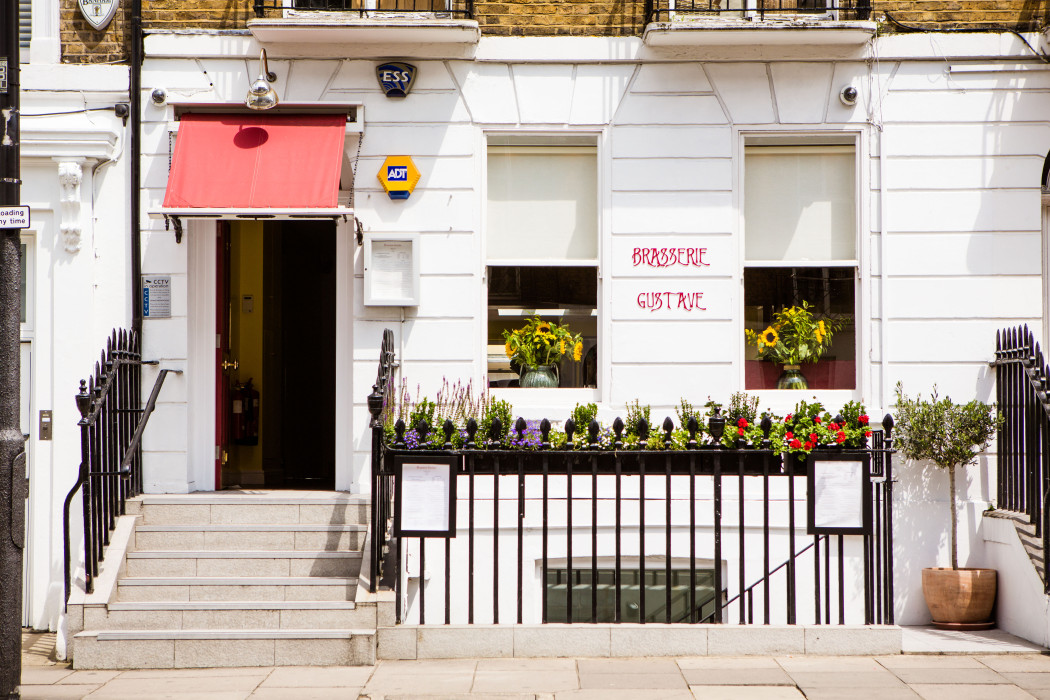 Brasserie Gustave - Exterior - Best London restaurants - FoodNoise
