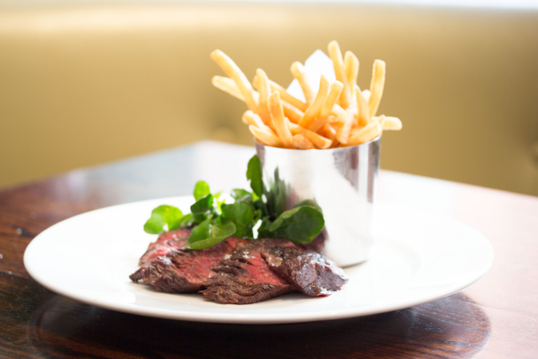 Bavette steak and fries