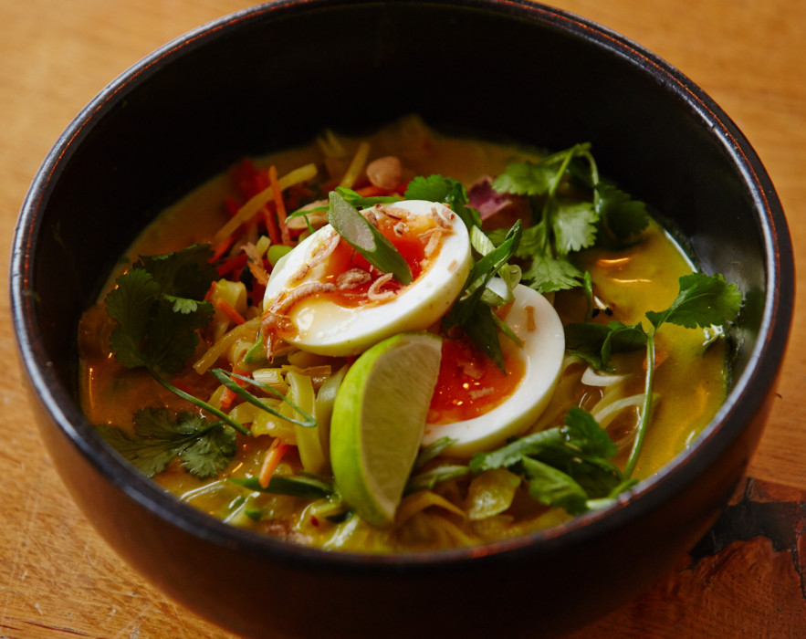Coconut and lemongrass noodle soup