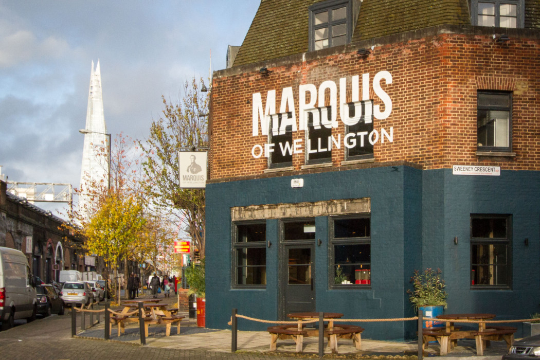 Marquis of Wellington – Exterior and The Shard